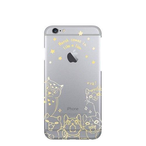3月のライオン 川本家のニャーたちのスマホケース ゴールド iPhone iPhone 7