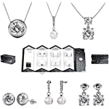 Her Jewellery Luxury Travel Set - Embellished With Crystals From Swarovski set with box