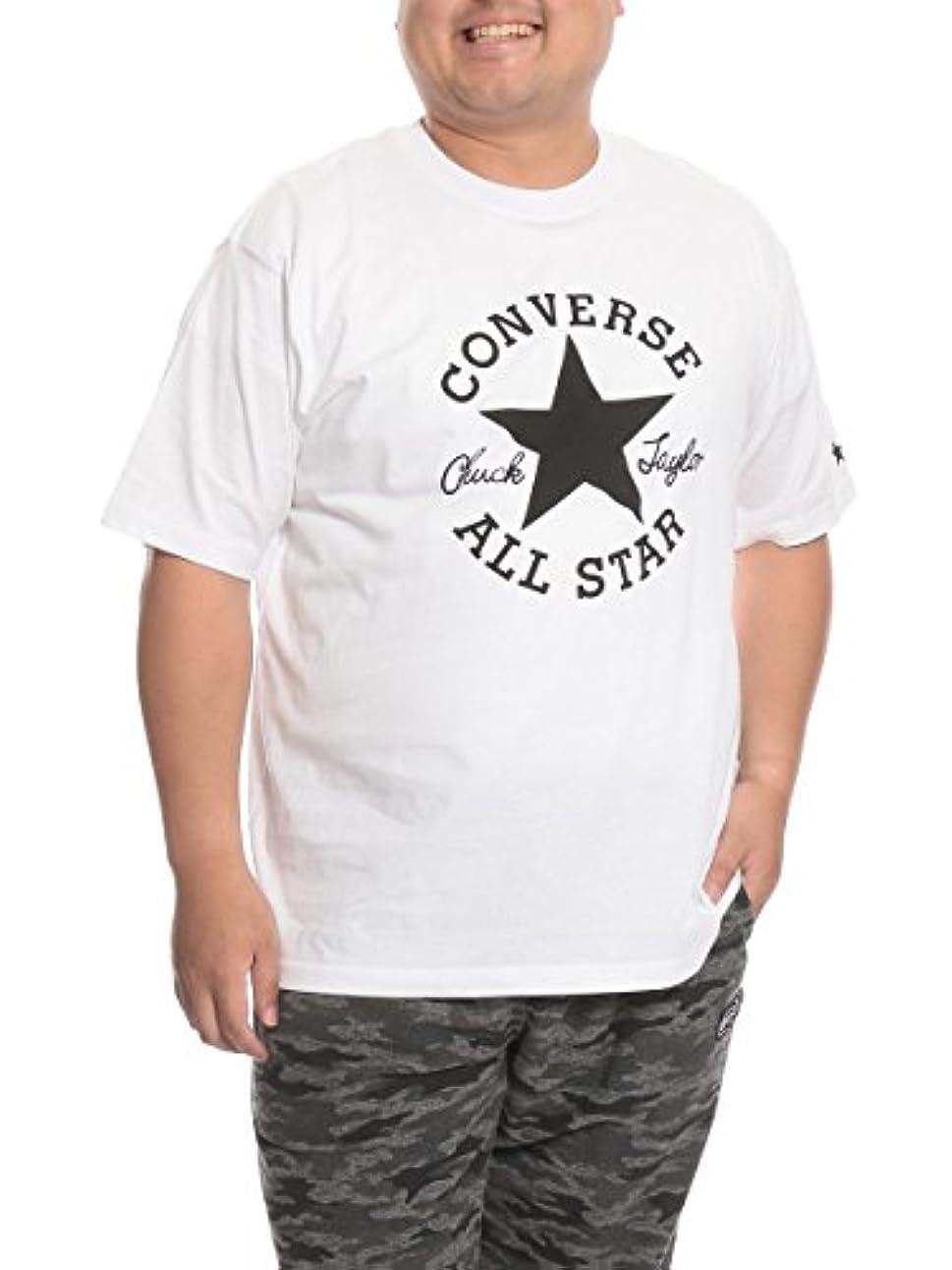耐えられるソロ計画的(コンバース) CONVERSE 大きいサイズ メンズ ALLSTAR 綿100% プリント クルーネック 半袖 Tシャツ ホワイト / 3L