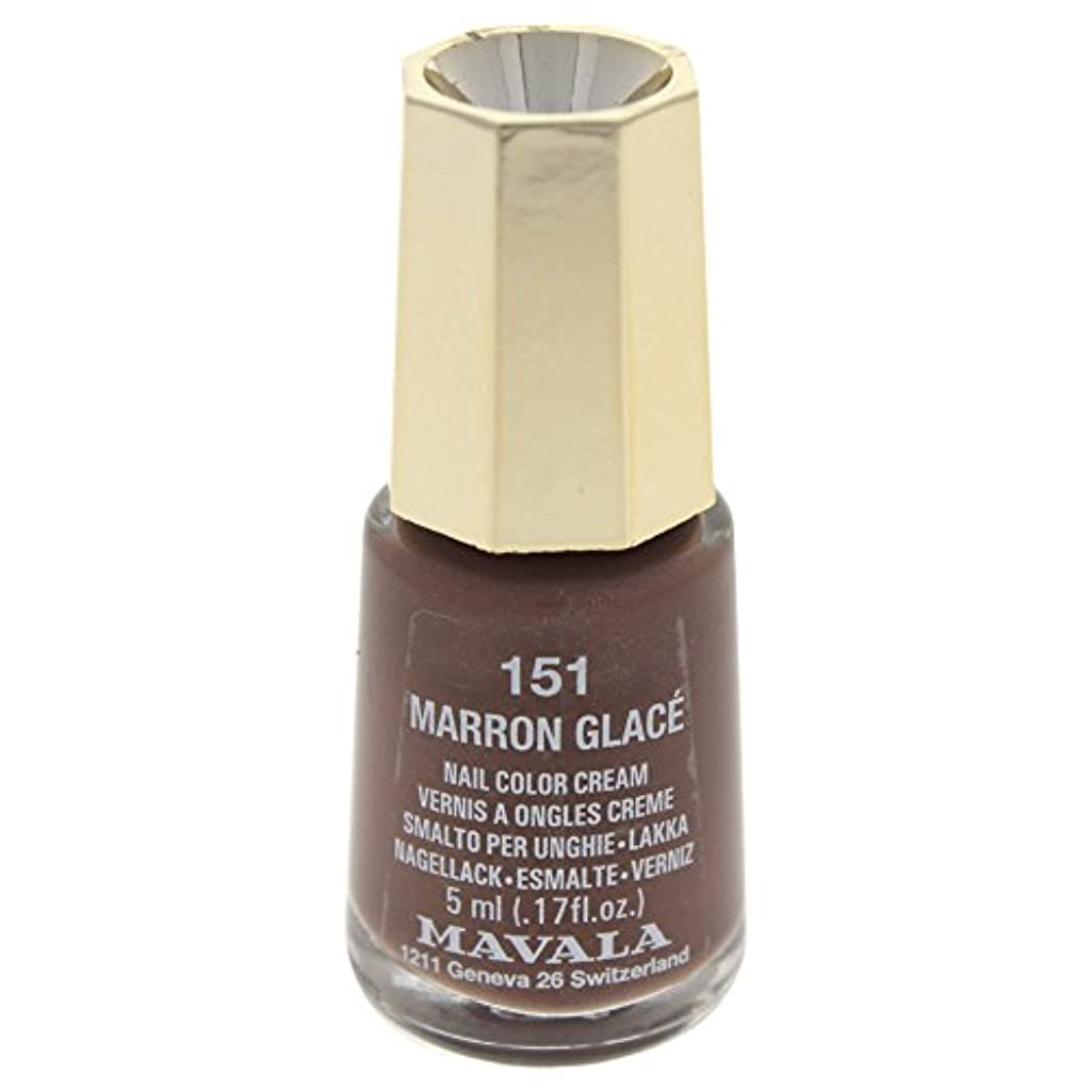少数離す広がりMAVALA マヴァラ ネイルカラー 151 マロングラッセ