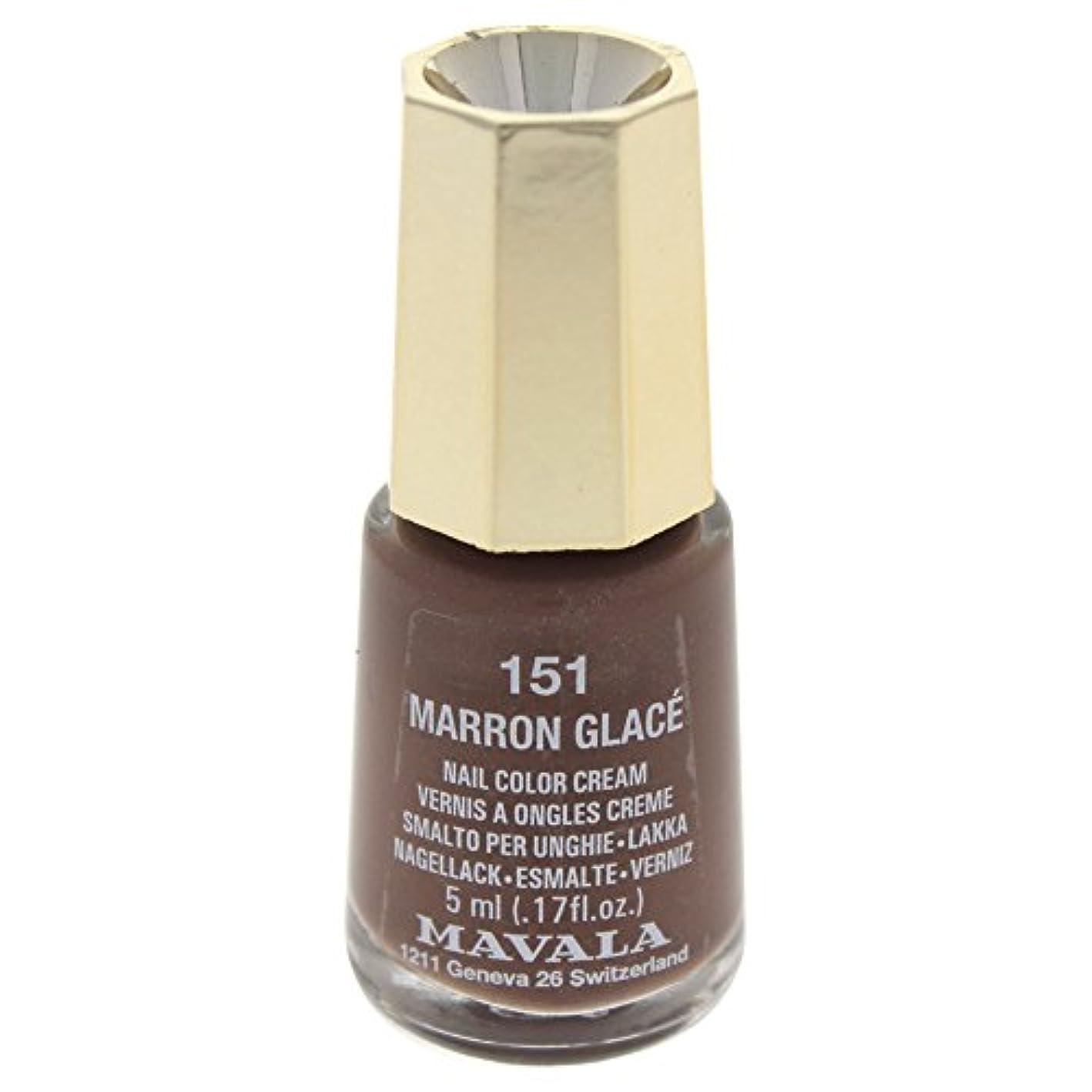 鍔欠如土器MAVALA マヴァラ ネイルカラー 151 マロングラッセ