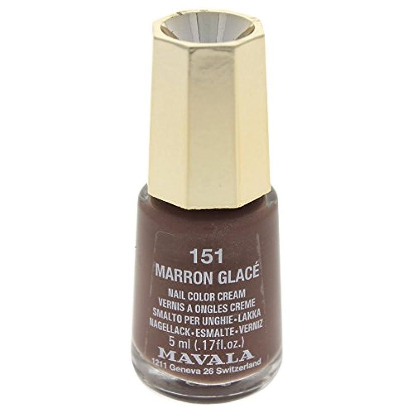 表面的な評決バケツMAVALA マヴァラ ネイルカラー 151 マロングラッセ
