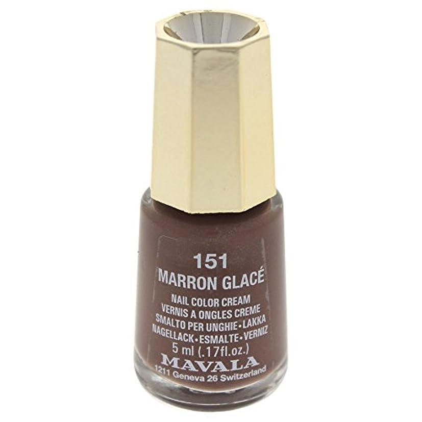 ヘアスキッパー褐色MAVALA マヴァラ ネイルカラー 151 マロングラッセ