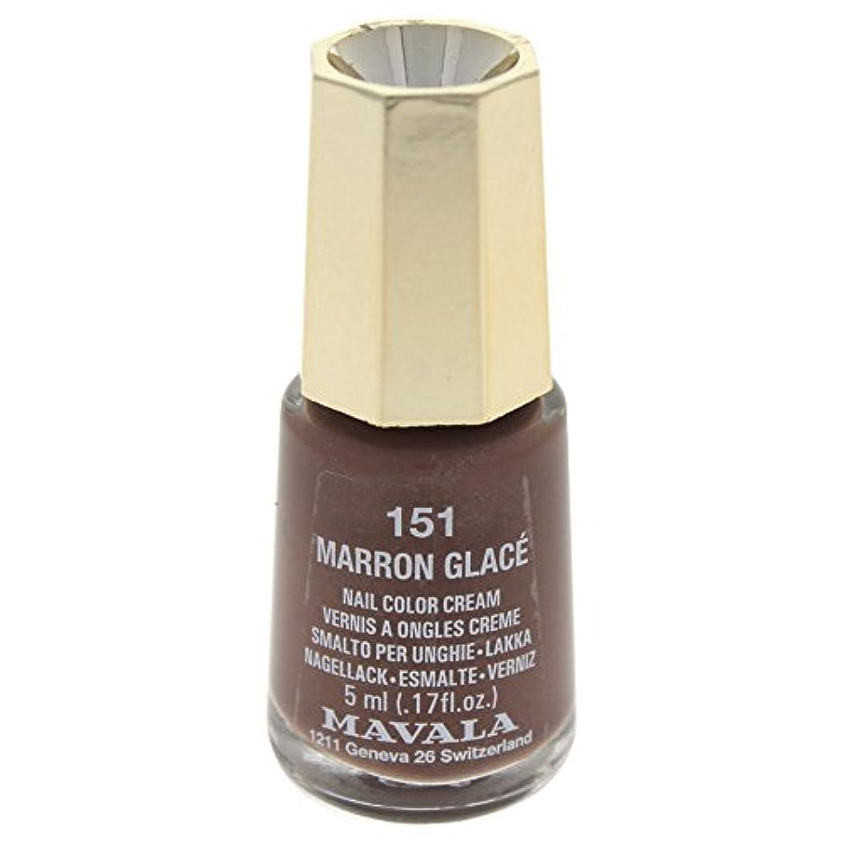 インストールクロニクル作成するMAVALA マヴァラ ネイルカラー 151 マロングラッセ