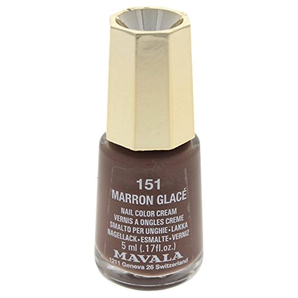 影響力のある代数的腹部MAVALA マヴァラ ネイルカラー 151 マロングラッセ