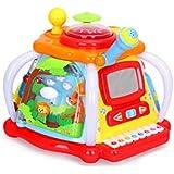 GLJJQMY 多機能ゲーム機子供のための楽しい小さな世界の子供の赤ちゃんタップ幼児教育玩具32×31×24.5センチ 子供の教育玩具