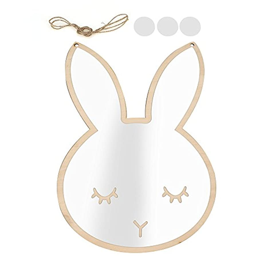 退屈させる運河助けになる卓上鏡 プルーマ チューリップ 可愛いウサギ*雲型 携帯便利 取り付け簡単 耐水性(01)