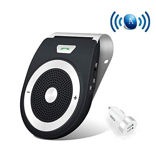 NETVIP ワイヤレスBluetoothスピーカー 車載用 ハンズフリーキット 通話 音楽再生 内蔵マイク ブルートゥース4.1 高音質 自動電源ON 携帯電話を 2台同時接続