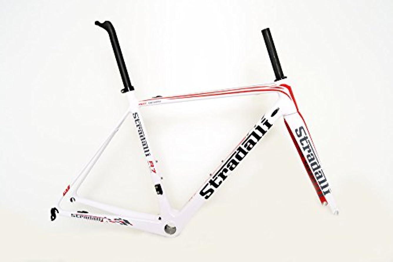 青しおれた革新Stradalli R7 チーム ホワイトカーボンファイバー ロードバイクフレームフレームセット BB30