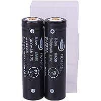 日本製セル 18650 リチウムイオンバッテリー 電池ケース付 パナソニックcell 3保護回路 3400mAh 2本セット NLAセレクト