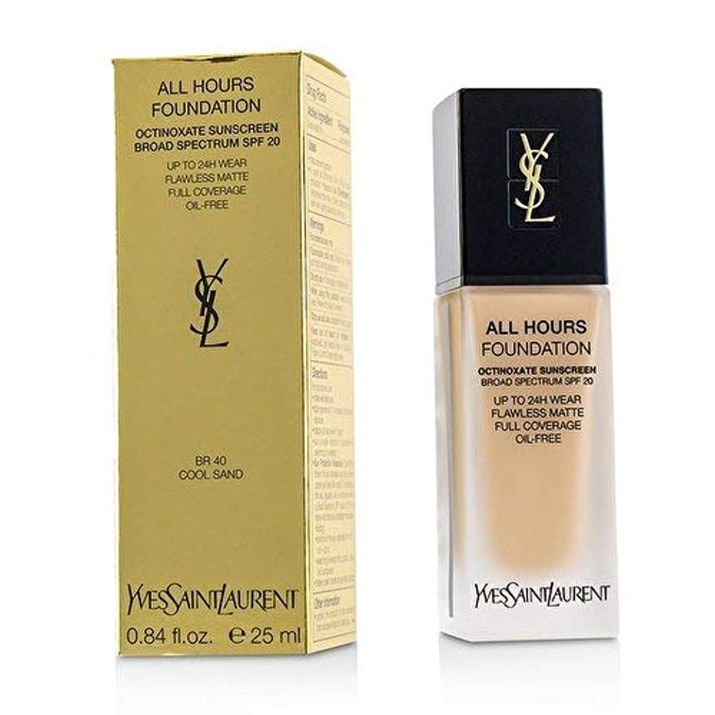 イヴサンローラン All Hours Foundation SPF 20 - # BR40 Cool Sand 25ml/0.84oz並行輸入品
