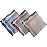 KINGREE Mens and Boys Gentleman Vintage Casual Hankie Cotton Handkerchiefs