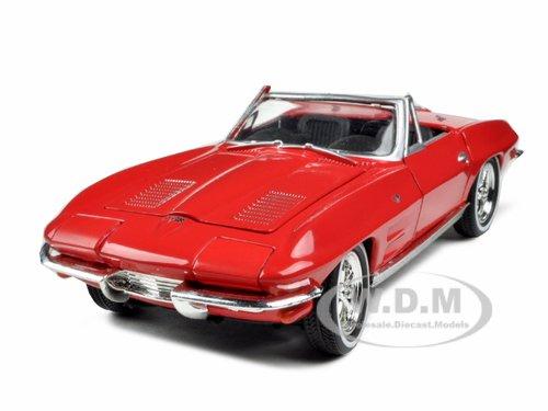 1963 Chevrolet Corvette Convertible Red 1/32 Diecast Model Car by Signature Models サイズ : 1/32 [並行輸入品]