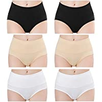Libsofter Womens Underwear Cotton High Waist Breathable Soft Briefs Hipster Panties for Ladies 4/6 Pack
