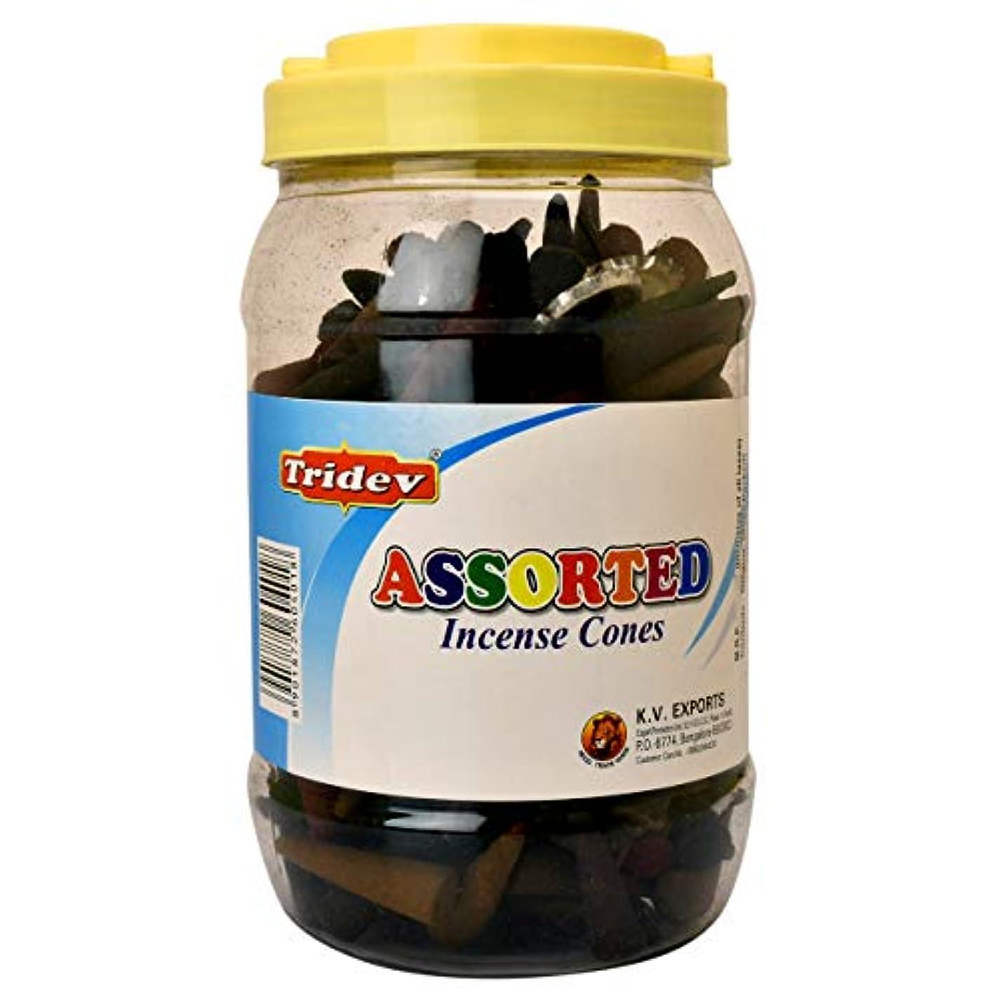 運営不条理種をまくTridev Assorted Incense Cones Jar 500グラムパック