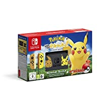 Nintendo Switch Console Bundle Pikachu Edition with Pokemon: Let's Go, Pikachu (HAC-S-KFAEHASI)