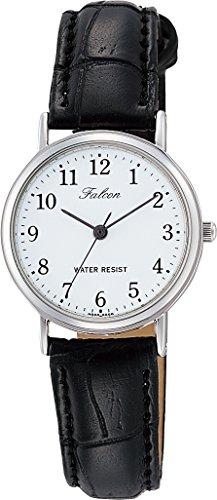 [シチズン キューアンドキュー]CITIZEN Q&Q 腕時計 Falcon ファルコン アナログ 革ベルト ホワイト Q997-304 レディース