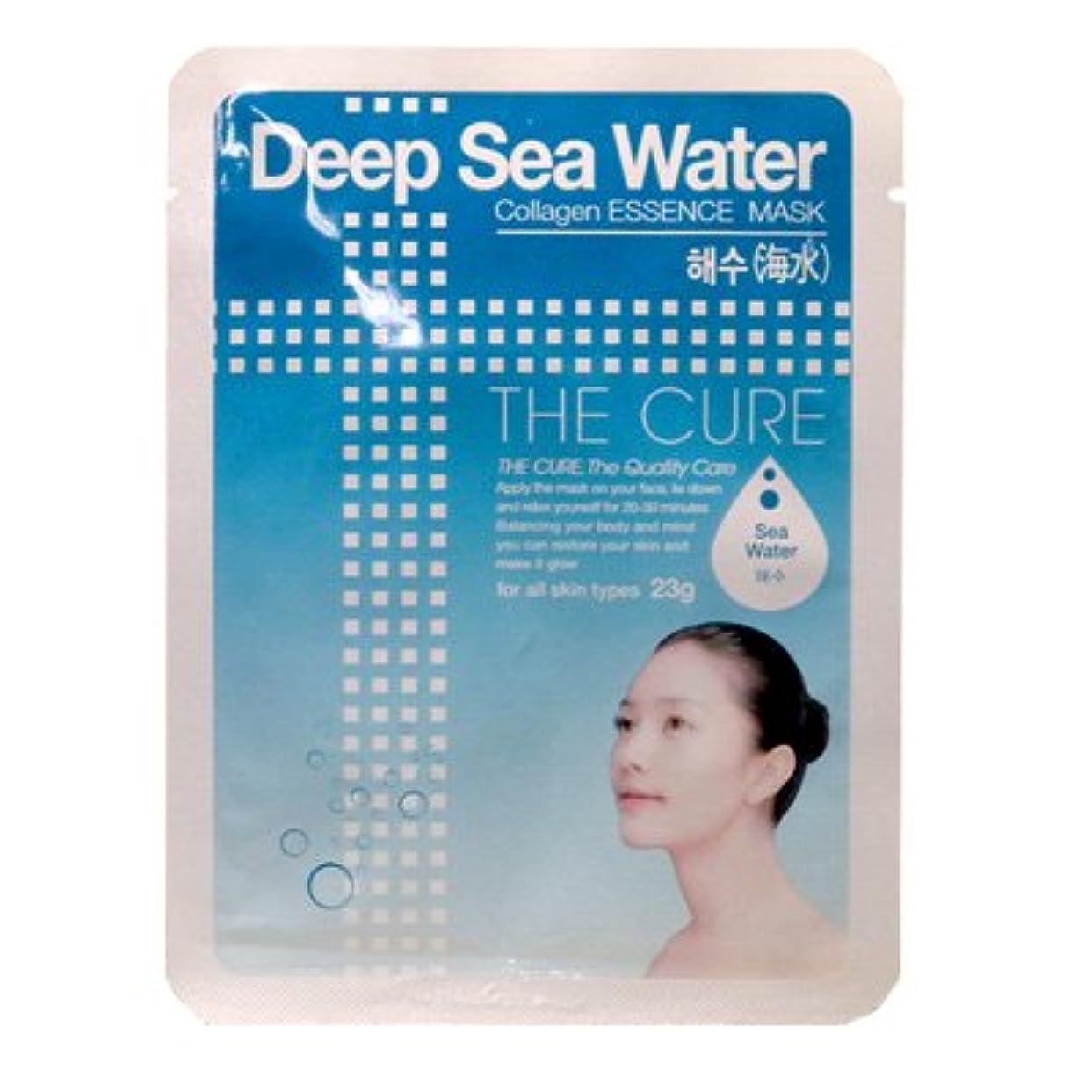 シャット重要ストリームCURE マスク シートパック 海水