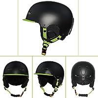 Sund スキー スノーボード ヘルメット 子供用 大人用 高品質 男女兼用 耐衝撃性 通気性 調節可能 登山 アウトドア スポーツ 防具 安全対策 怪我防止 S、M、Lサイ選択可 ブラック