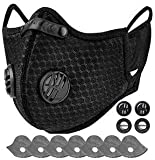 AstroAI 布 マスク黒 マスクスポーツマスク 通気性 洗えるマスク ランニングマスク 自転車マスク サイクリング…