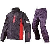 コミネ(Komine) バイク用レインスーツ ブレスターレインウェア-フィアート ブラック XL 03-539 RK-539
