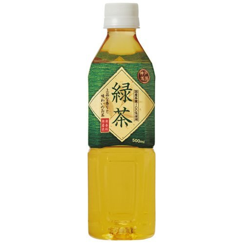 富永貿易 神戸茶房 緑茶(500mlペット×24本) 2ケース