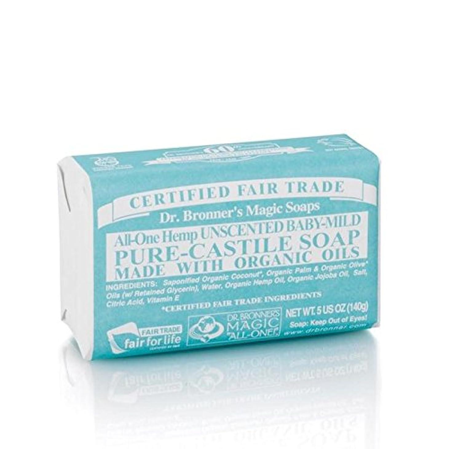 大きいタッチ犠牲のブロナーオーガニックベビーマイルドソープバー140グラム x4 - Dr Bronner Organic Baby Mild Soap Bar 140g (Pack of 4) [並行輸入品]