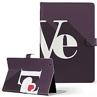 MediaPadT17.0 Huawei ファーウェイ MediaPad メディアパッド タブレット 手帳型 タブレットケース タブレットカバー カバー レザー ケース 手帳タイプ フリップ ダイアリー 二つ折り ラブリー ハート 英語 文字 t170-007025-tb