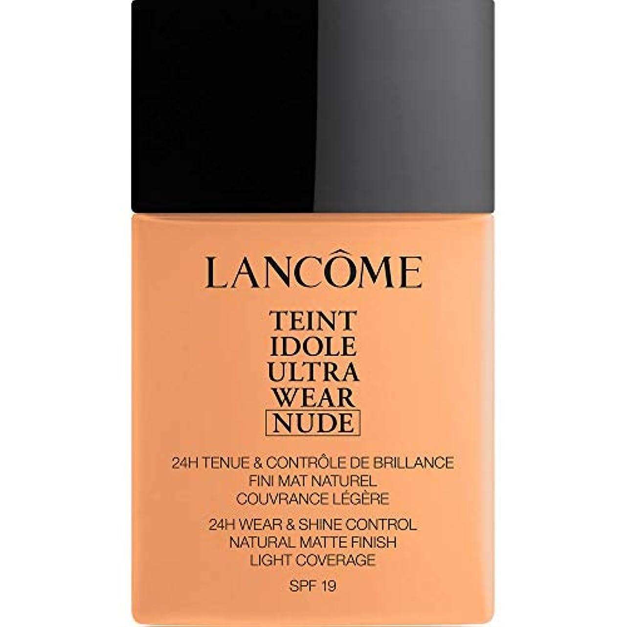 一部ハイジャック葉[Lanc?me ] ランコムTeintのIdole超摩耗ヌード財団Spf19の40ミリリットル049 - ベージュのPeche - Lancome Teint Idole Ultra Wear Nude Foundation...