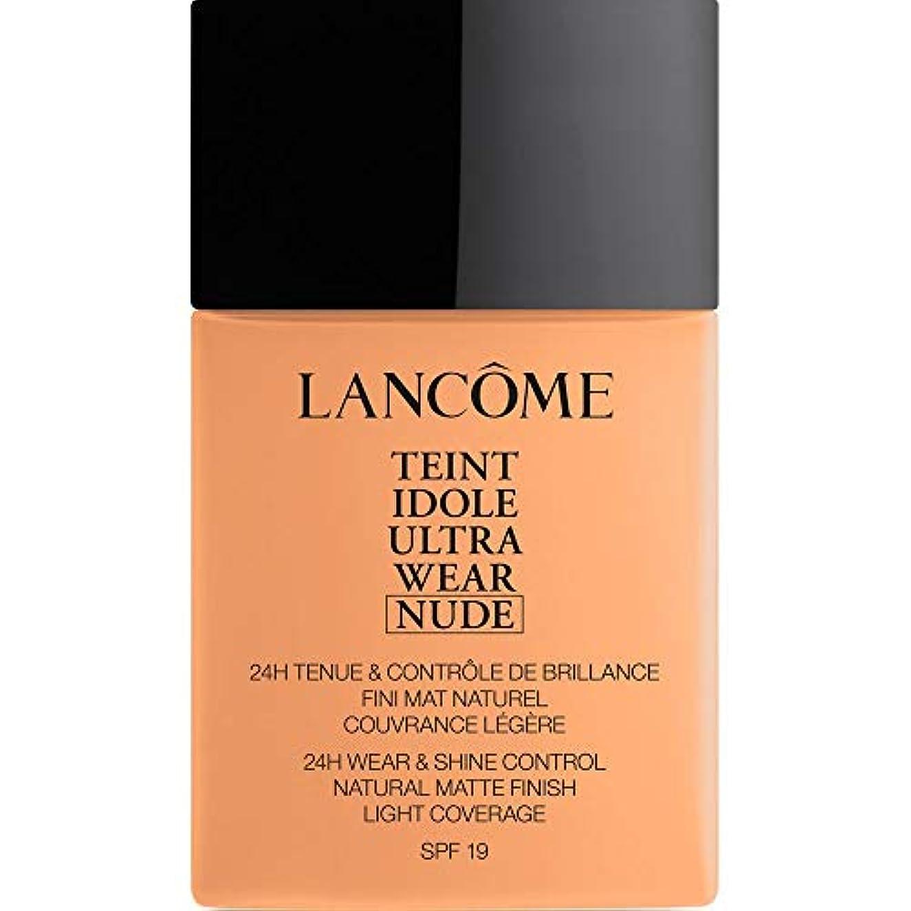 姿を消すスプリット環境[Lanc?me ] ランコムTeintのIdole超摩耗ヌード財団Spf19の40ミリリットル049 - ベージュのPeche - Lancome Teint Idole Ultra Wear Nude Foundation...