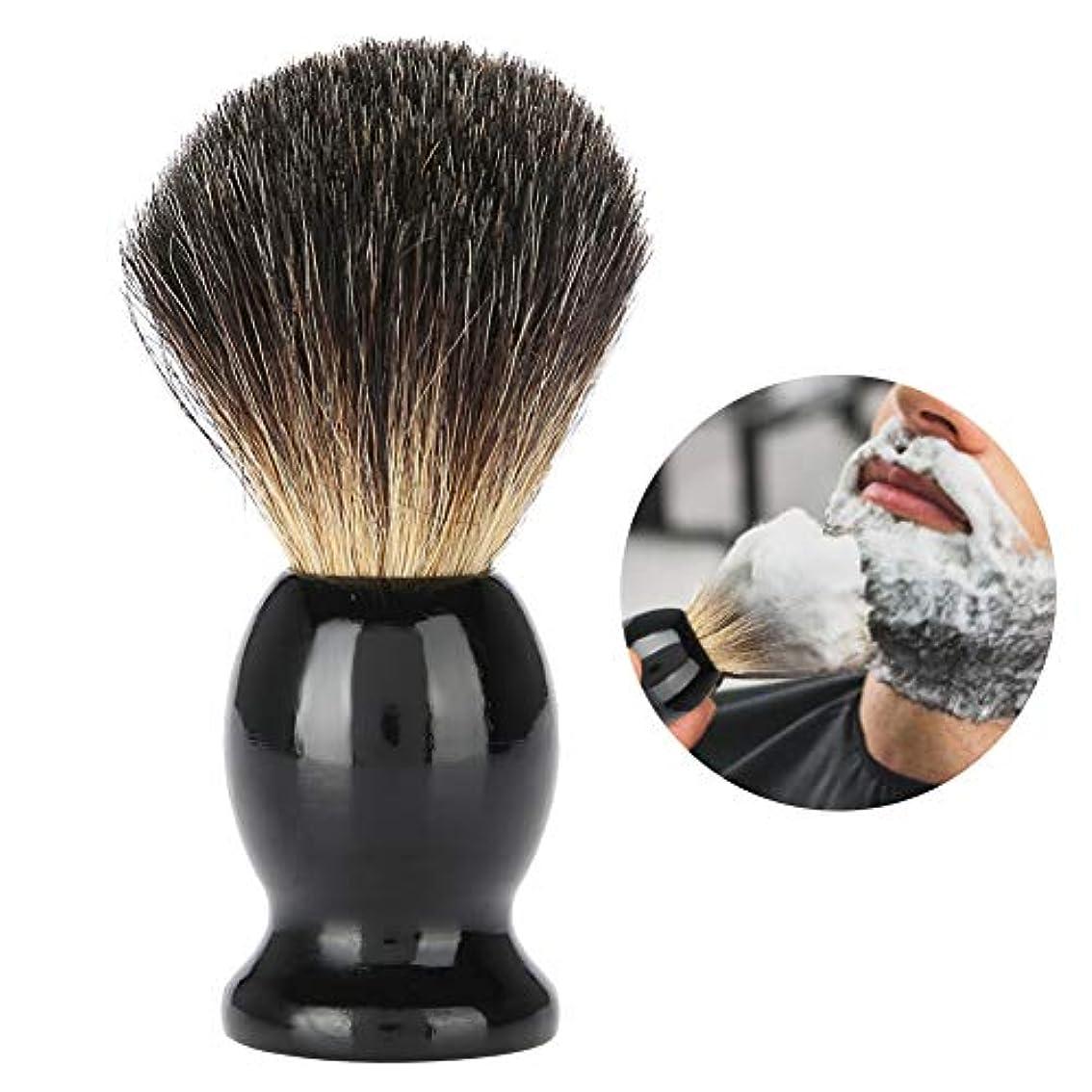 Yuyteポータブル男性ウッドハンドル髭剃りブラシ理髪店サロンツール