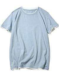 (モダンミス)Mordenmiss タンクトップ メンズ Tシャツ 半袖 t シャツ 男の子 個性 カジュアル 無地 重ね着にも 春夏にぴったり かっこいい シンプル M-XXL 8色