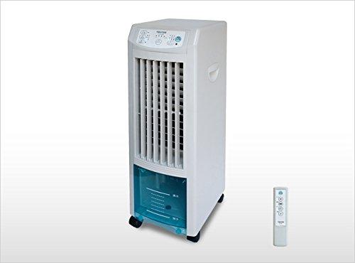 スリムタイプ冷風扇 (リモコン) (風量3段階) タイマー付き 静音設計 専用保冷タンク付き TEKNOS(テクノス)