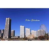 ポストカードAIR【観光地シリーズ「I love Yokohama」横浜みなとみらいランドマーク葉書ハガキはがき