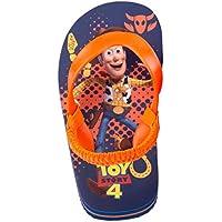 Josmo Toy Story Flip Flops with Comfort Strap Toddler/Little Kid Blue/Orange