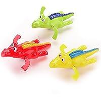 Demiawaking お風呂用おもちゃ バネ式 ワニ おもしろい 水遊び 色がランダム出荷