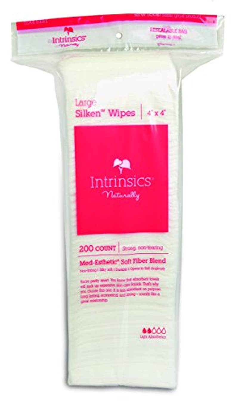 Intrinsics Large Silken Wipes 4 X 4, Non-woven, Light Absorbency Med-esthetic Soft Fiber Blend. 200 Count. by...