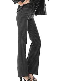 【新品未使用アウトレット品】レディース フレア パンツ(スーツ用) 5号  春夏生地の高級素材 ベルトーループ&ポケット有