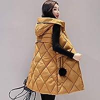Alician Autumn Winter Vest Women Waistcoat Sleeveless Vest Hooded Jacket Slim Overcoat