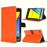 SP-MART(オリジナル)Google 第2世代(Nexus 7 2013) Nexus 7 専用 google nexus 7 2013 ケース 全8色 Google 第2世代 nexus 7 カバー スタンドタイプ PU Lerther 2013年発売 2013モデル nexus 7 カバー フェイクレザーケース 段階調整 マグネット式 esd3010_g211 (Orange)
