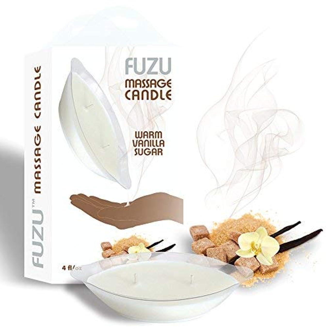 蚊削除する排泄物Fuzu MCDL-Vani Massage Candle Warm 4 Oz Vanilla Sugar [並行輸入品]