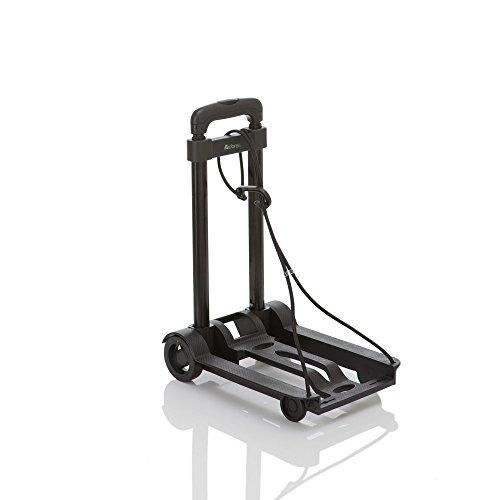 (ドレイス)DOREIS キャリーカート 折りたたみ 軽量 コンパクト 固定ロープ付 簡易型 ブラック