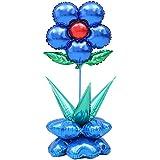 Blesiya 風船セット フラワー バルーン 大きな花のバルーン 飾り 玩具 おもちゃ 全6色選べる - 青