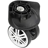 Baoblaze 2 Pieces Black Replacement A19 Dual Roller Wheels Luggage Swivel Suitcase Casters Repair Accessory