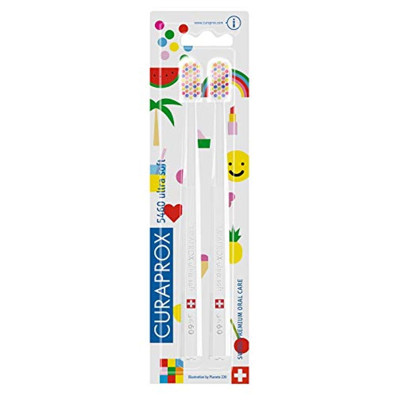 グラフしがみつくほうきクラプロックス 歯ブラシ CS5460 POP-ARTエディション キャラクター柄 二本セット
