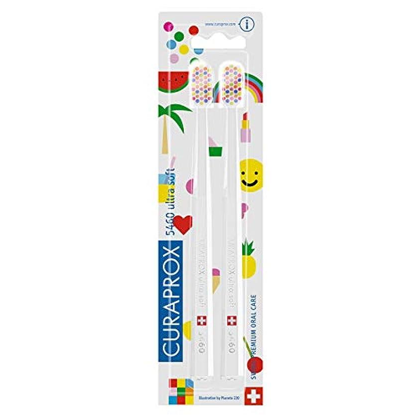 群衆タイムリーな苦クラプロックス 歯ブラシ CS5460 POP-ARTエディション キャラクター柄 二本セット