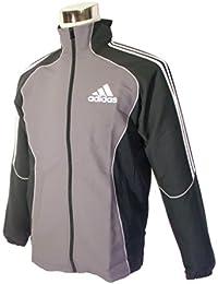 (アディダス)adidas メンズ DRY PLUS ジャケット W58265 M 黒/白/灰