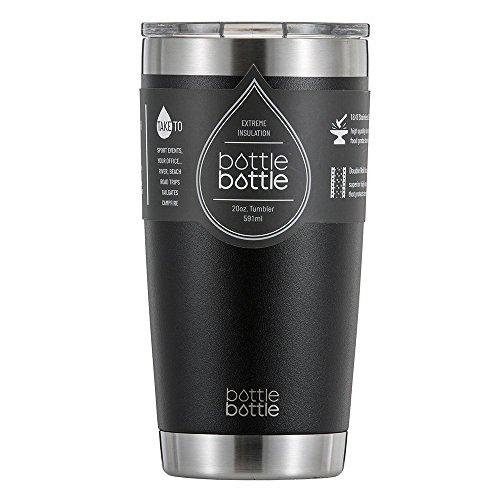 真空断熱 タンブラー ふた付き 保温保冷 ステンレス 約600ml ブラック ボトルボトル