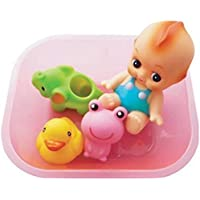 Sun Baby 5pcs Bath Toys Set Soft Rubber Water Squirts withBaby Doll and Float Boat Bathtub Toy Set,Great Shower Gifts for Baby by Sun Baby [並行輸入品]
