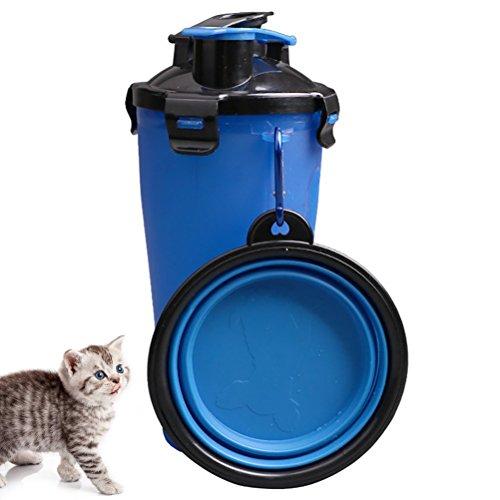 iHOY 犬 猫 食器 ボウル 携帯食器 ウォーターボトル 給水器 携帯水筒...
